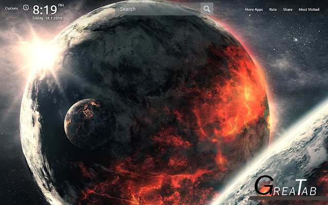 Planets Wallpapers Planet Theme |GreaTab