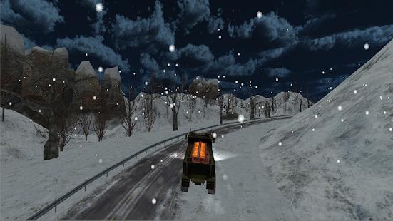 Snow Army Truck Transport screenshot