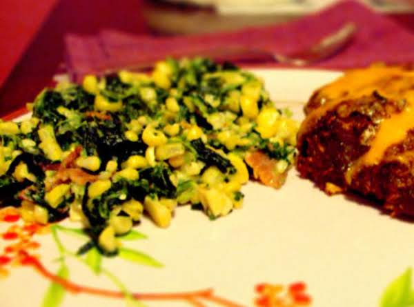 Corn And Spinach Saute