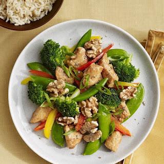 Chinese Chicken Walnut Stir-Fry.