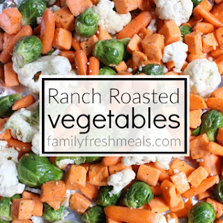Easy Ranch Roasted Vegetables.
