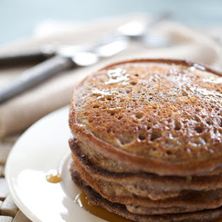 Rich Blue Cornmeal and Applesauce Pancakes.