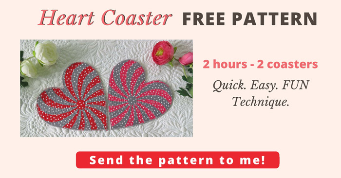 Free Heart Pattern for Coasters