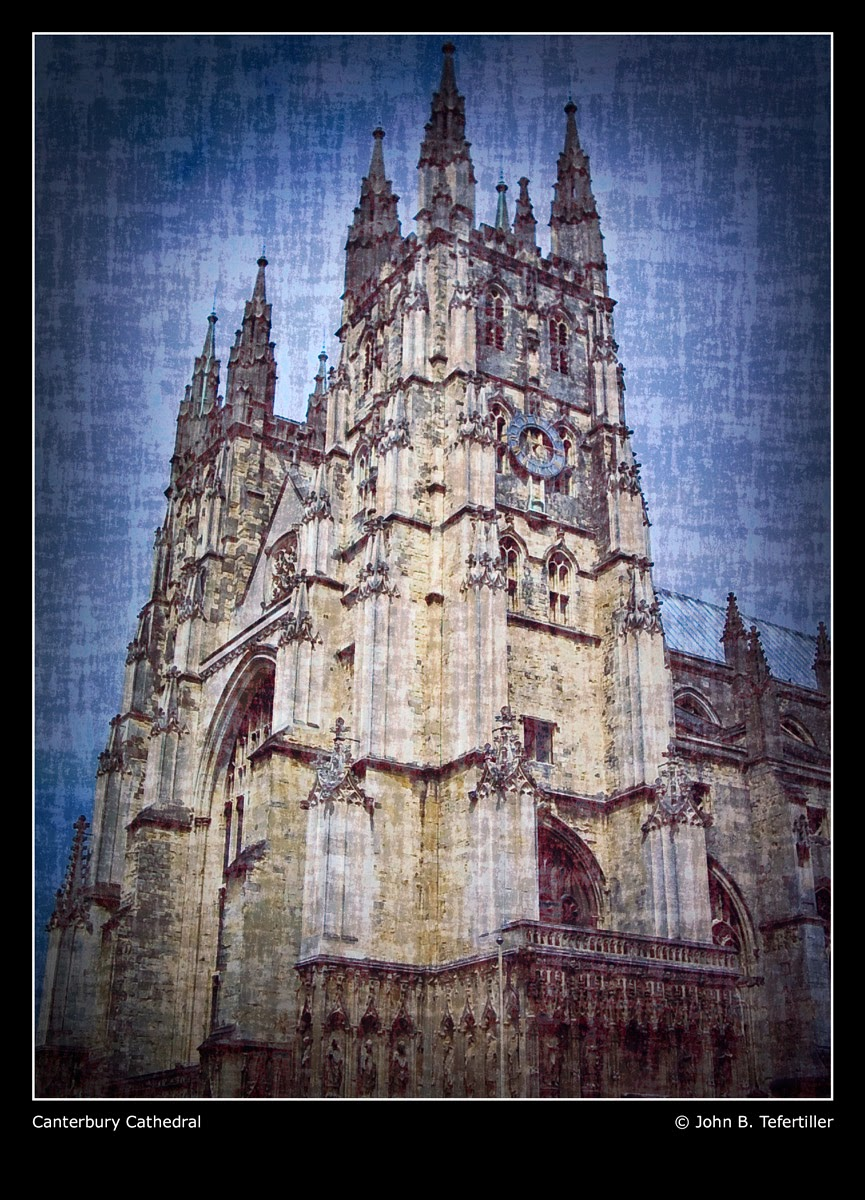 Photo: Canterbury Cathedral A place to contemplate.  Pardon the watermark- this was started waaayyyyy back when, with the intent of having a poster printed for my office at work. I didn't feel like starting from scratch, so I left things 'as is.'  The original photo was taken in July of 2005.    #FFA