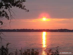 Photo: Sunset on Knight Island State Park
