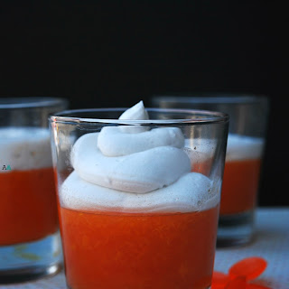 DOUBLE APRICOT JELLO WITH WHIPPED COCONUT CREAM (GF, DF, EGG, SOY, PEANUT/TREE NUT FREE, TOP 8 FREE).