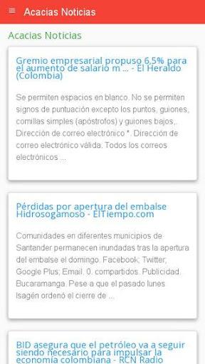 Noticias de Acacu00edas 1.0 screenshots 1