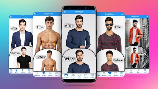 Man Photo Editor & Men HairStyle, Suits, Mustache 1.20 MOD for Android 1