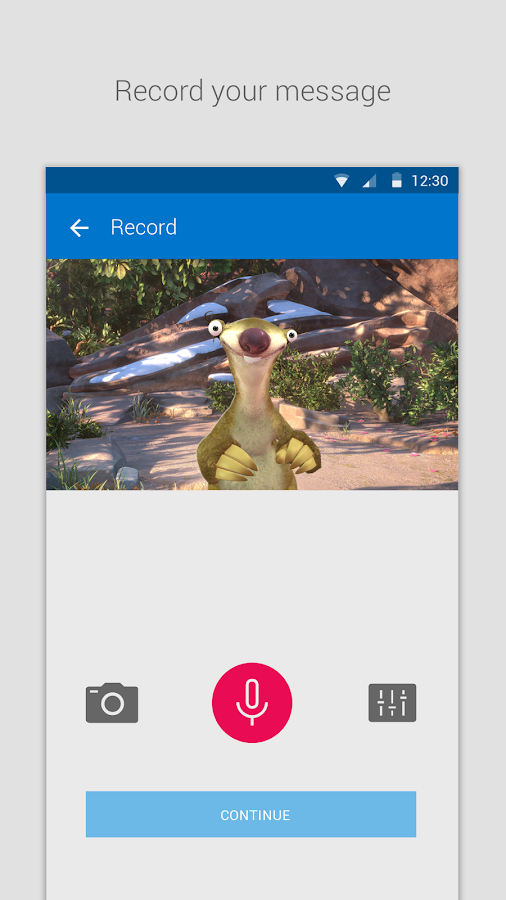 Zoobe - cartoon voice messages- screenshot