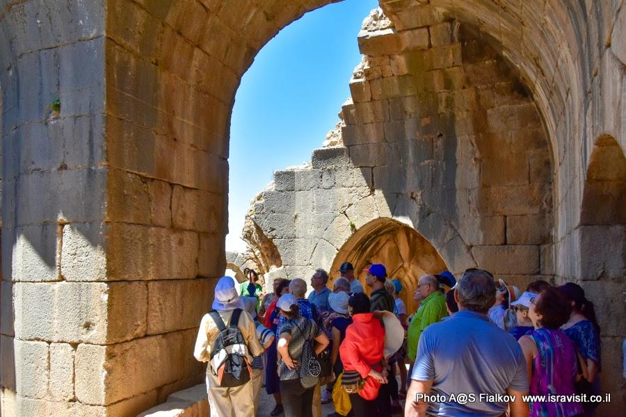 На экскурсии в крепости Нимрод. Верхняя Галилея. Север Израиля.