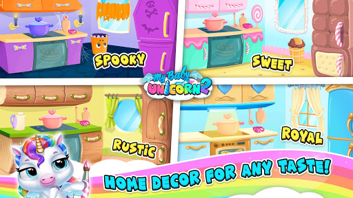 My Baby Unicorn 2 - New Virtual Pony Pet apkdebit screenshots 8