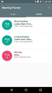 Meeting Planner by timeanddate.com- screenshot thumbnail