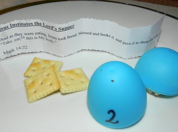 Egg 2Jesus Institutes the Lord's Supper  And as they were eating, Jesus took...