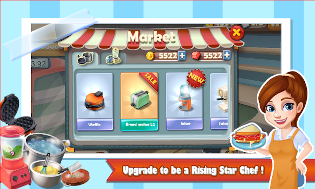 Rising Super Chef:Cooking Game v1.5.7 (Mod Money/Energy)
