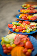 Photo: Heirloom tomatoes being served on a food & wine white water rafting trip along the wild and scenic Rogue River in southern Oregon.
