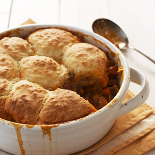 Carolina Pork and Sweet Potato Pie with Biscuit Batter Crust