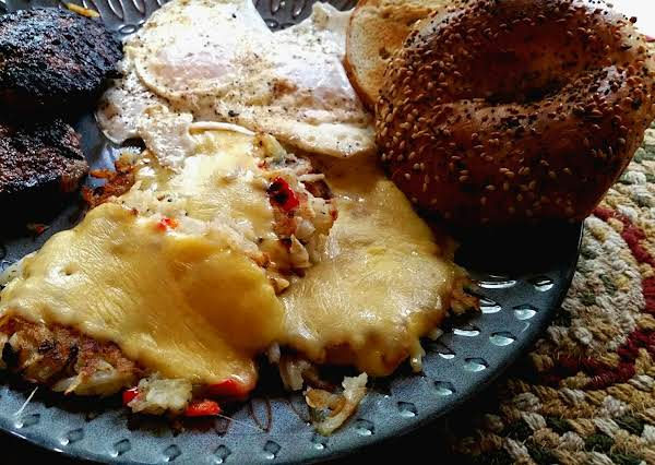 ~ Gouda Smothered Hashbrowns ~ Recipe