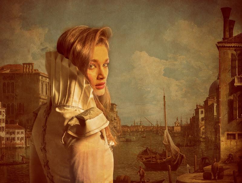 Ritratto di dama e Canaletto di franca111