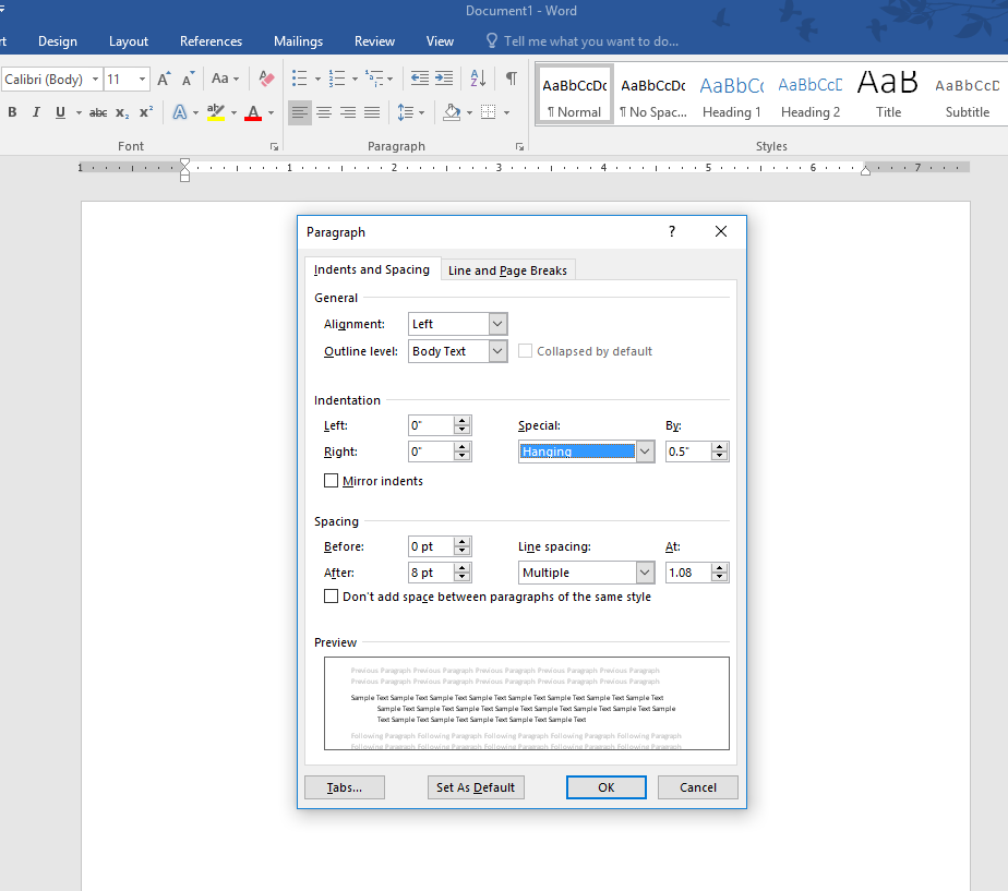 Create a Hanging Indent Capture.PNG