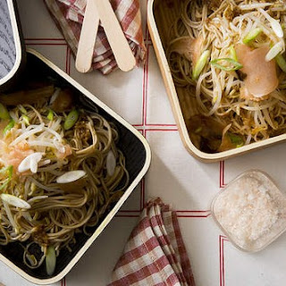 Cold Soba Noodles With Beansprouts, Soy And Ginger