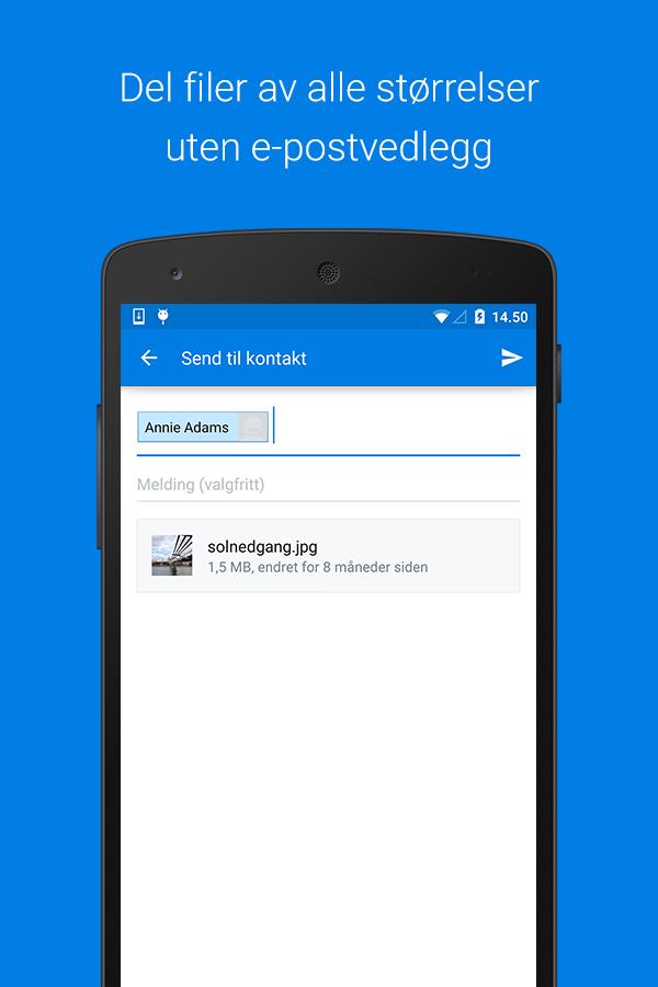 Dropbox-skjermdump