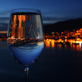 by Nico Carbajales - Landscapes Beaches ( canon, water, wine, reflection, park, art, reflections, ocean, burrard, 50d, vancouver, city, lights, sky, sunset, glass, air, night, sunrise, bridge, fine, bc, stanly, wineglass )