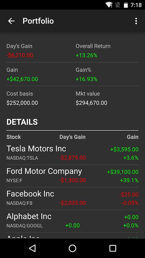 Stocks - Realtime Stock Quotes- screenshot