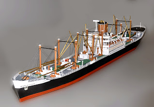 Photo: Z Scale model of 500' Maplecove Freighter.