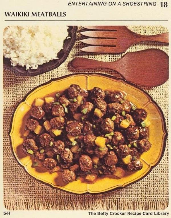 Add meatballs pineapple and green pepper, heat through.