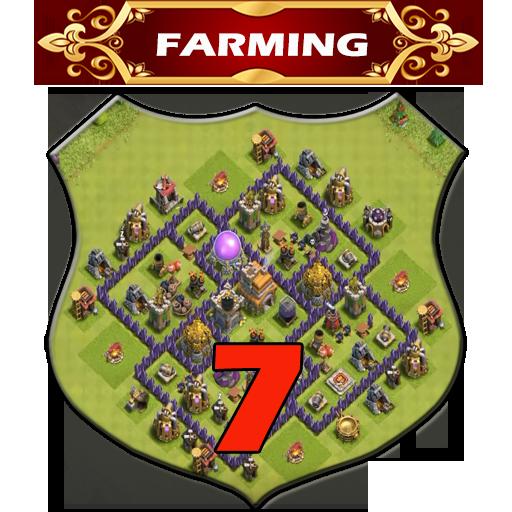 Town Hall 7 Farming Base Layouts