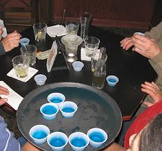 Photo: Drinks on tray blue shots