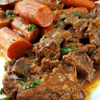 Beef Bourguignon Slow Cooker.