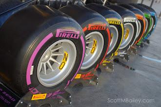 Photo: Pirelli P-Zero F1 tyres