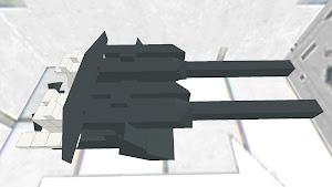 四十口径八九式十二糎七高角砲 砲本体