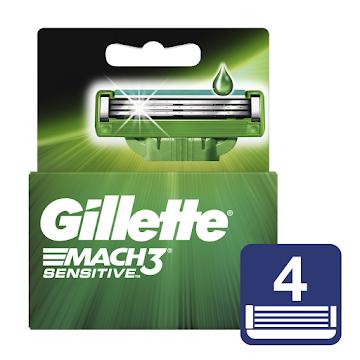 Repuestos Para Afeitar Gillette Mach3 Sensitve 4 Unidades