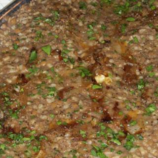 Mujadra – Lebanese Lentils & Rice.
