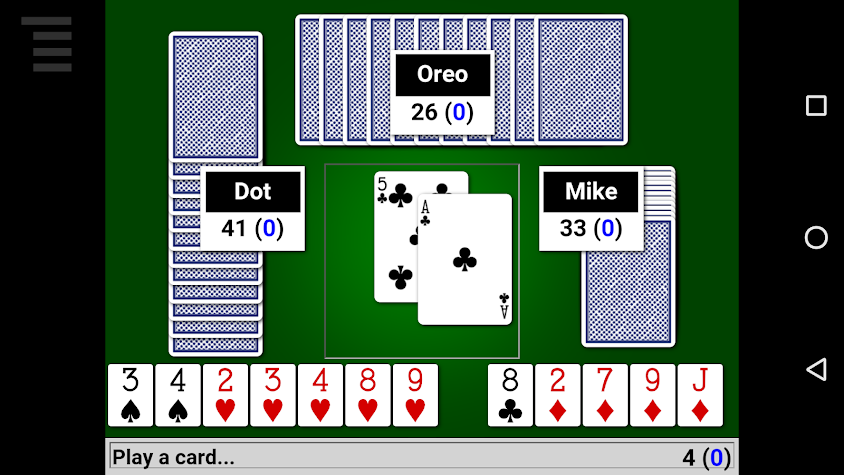 Hearts Card Game Screenshot