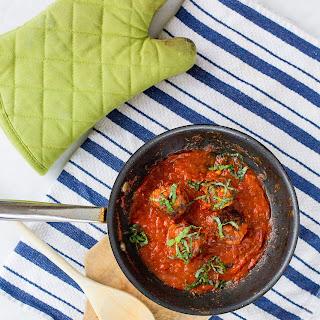 Pesto Turkey Meatballs & Zoodles.