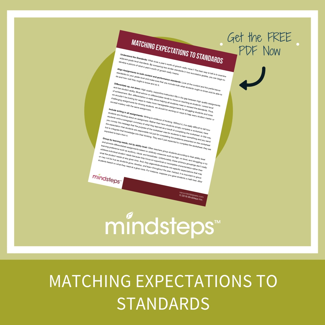 Matching Expectations to Standards