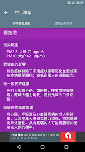 台灣即時霾害 (Taiwan PM2.5 & PM10) screenshot 5