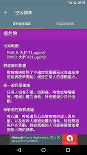 台灣即時霾害 Taiwan PM2.5, PM10, AQI  螢幕截圖 6
