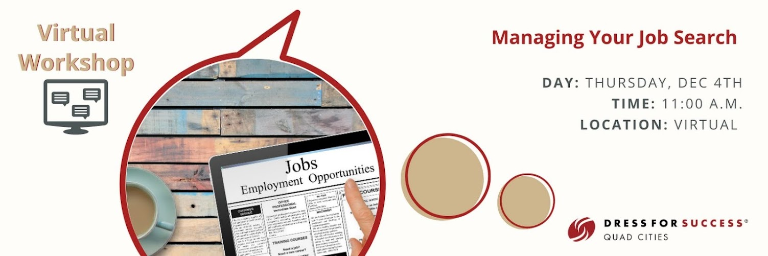 Virtual Workshop: Managing Your Job Search
