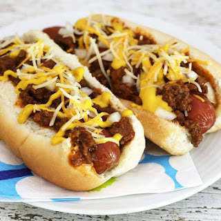 Coney Sauce Hot Dogs.
