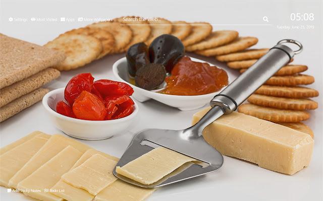 Cheese Wallpaper HD New Tab Theme