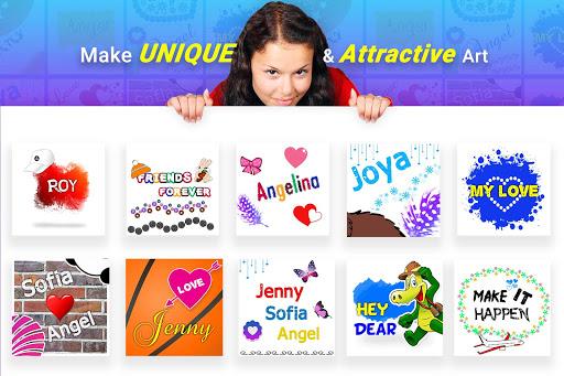 Name Art - Focus Filter - Name Card Maker 1.1.4 screenshots 1