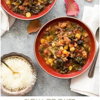 Slow Cooker Chorizo Kale Soup.