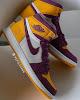 "air jordan 1 high og ""brotherhood"" university gold/purple-white"