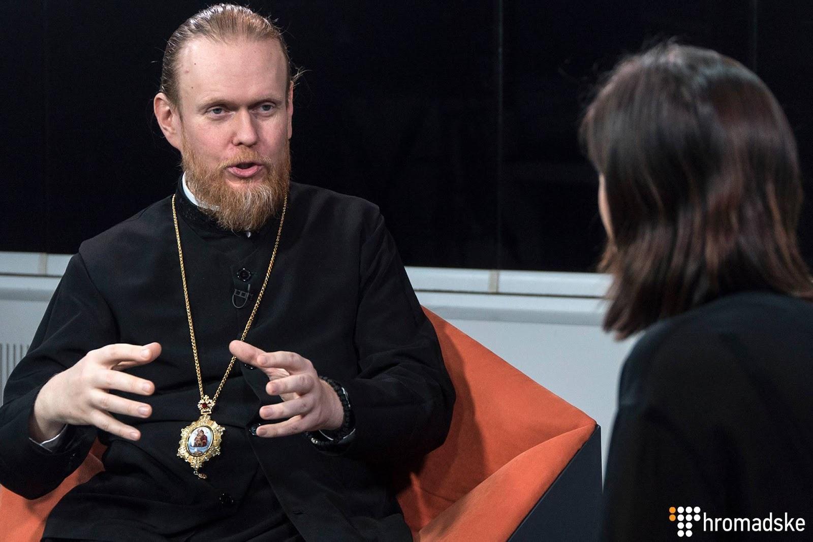 Архієпископ Чернігівський і Ніжинський Православної церкви в Україні Євстратій (Зоря) у студії Громадського, Київ, 6 лютого 2019 року