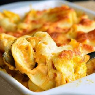 Spicy Three Cheese Pumpkin Tortellini Bake Recipe