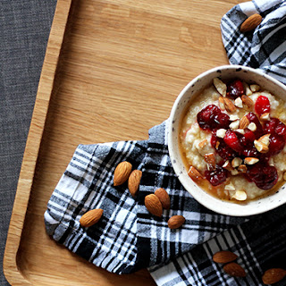 Cranberry Bakewell Porridge.